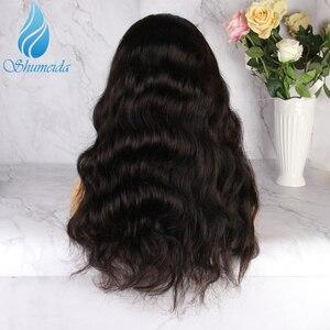 Image 3 - Передние парики SHD для чернокожих женщин, натуральный черный цвет, волнистые бразильские Реми парики, бесклеевое кружево 4x 4/5x 5/7x7, парик на шнуровке