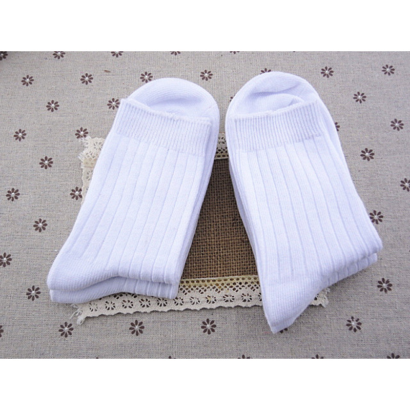 Unisex-Childrens Solid-Color Cotton Socks