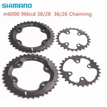 Shimano DEORE m6000 chainring 96bcd 38 28t 36 26t עבור DEORE slx xt m7000 m8000 crankset 22 מהירות