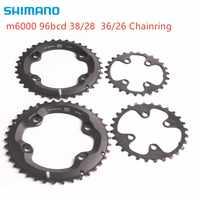Shimano DEORE m6000 tarcza 96bcd 38 28t 36 26t dla DEORE slx xt m7000 m8000 mechanizm korbowy 22 prędkości