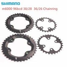 Shimano anel de corrente deore m6000, 96bcd 38 28t 36 26t para deore slx xt m7000 m8000 pedaleira 22 velocidades