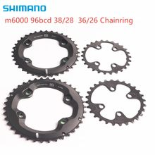 Shimano DEORE m6000 plato 96bcd 38 28t 36 26t para DEORE seis xt m7000 m8000 plato 22 velocidad(China)