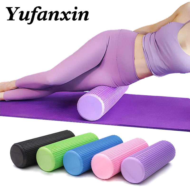 Yoga Block Pilates EVA Foam Massage Roller Muscle Tissue Fitness Gym Workout Fit