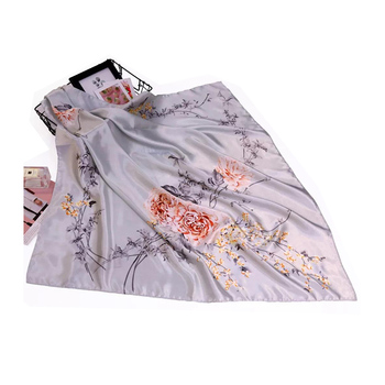 90cm silk scarf spring women scarves fashion smooth silk scarf soft echarpe print shawl & wrap luxury brand sjaal nice quality luxury chinese characters red silk scarves for women cashmere scarf winter spring long silk shawl wrap 175cm women accessories