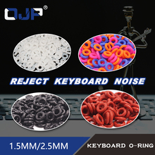 110pcs Keycaps O Ring Seal Switch Sound Dampeners For Cherry MX Keyboard Damper Replacement Noise Reduction Keyboard O-ring Seal cheap Keyboard o rings Rubber Ring Gasket Standard 110pcs keycaps o ring seals Rubber Silicon O Ring Seal gasket Red White Black