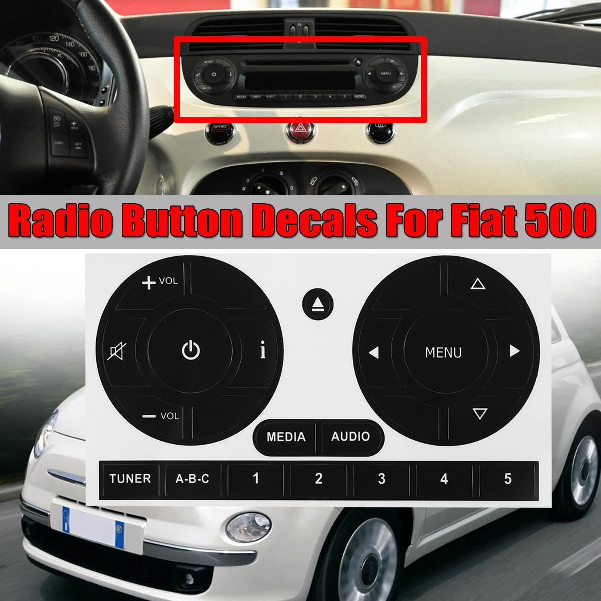 Автомобильные медиа аудио Радио стерео Кнопки Ремонт стикер s наклейки ремонт стикер для Fiat 500 Автомобильная наклейка s исправить уродливую ...