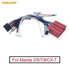 FEELDO araba 16pin Stereo radyo güç kablosu adaptörü ile Canbus kutusu kablo demeti Mazda 3 için (08 12)/5(08 15)/6(07 12)/8/CX 7