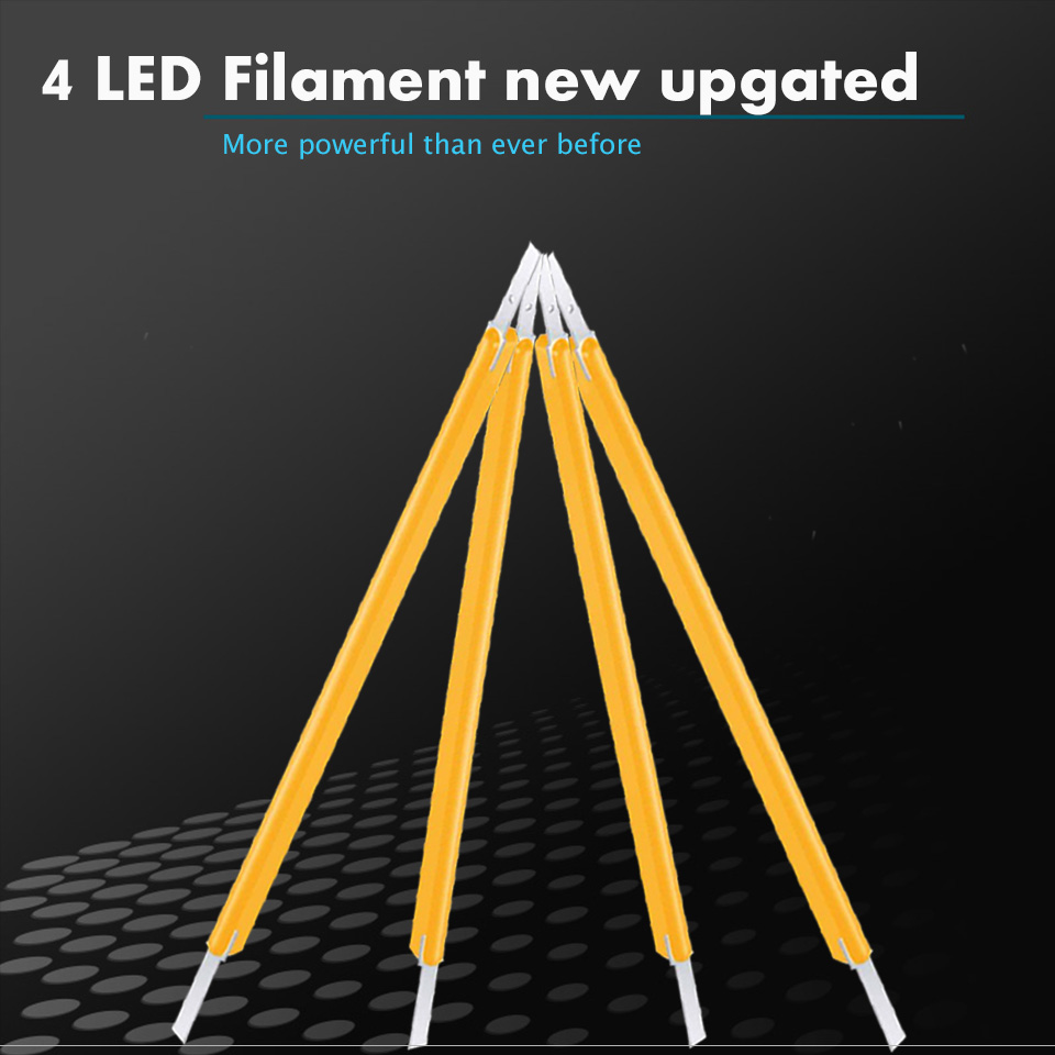 2pcs 4 Filament Super Bright Led 1157 BAY15D P21W 5W Car Brake Light Bulb Auto Vehicle Lamp Yellow red white Car Accessories 12V in Signal Lamp from Automobiles Motorcycles