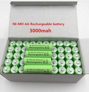 100% New AA bateray recargable 3000 mAh 1,2 V alcalinas AA batera recargable de la batera para la Luz led juguet