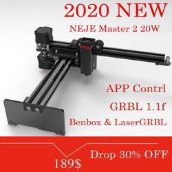 NEJE Master 2 20W, grabador y cortador láser de escritorio, máquina de grabado y corte láser, impresora láser, enrutador láser CNC