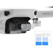 2PCS protezione dellobiettivo della fotocamera per DJI Mavic Mini/Mini 2 Drone Kit di accessori protettivi per pellicola in vetro temperato antigraffio HD