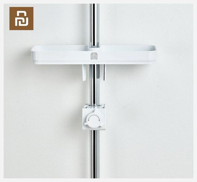 Dabaiポータブル浴室シャワー収納ラックタオル吊り棚収納ラックdiy組織とフック