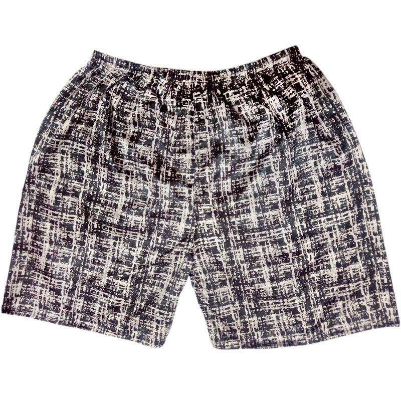 Tony&Candice Sleep Bottoms Men Satin Silk Short Men Boxer Sleep Men's Pajamas Bottom Beach Shorts  In Summer Print Pattern