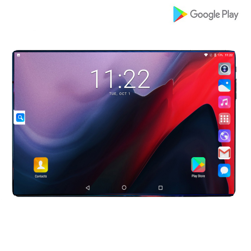 Newest 10 Inch Tablet PC 4G Android 9.0 Octa Core Tablets Ram 6GB Rom 128GB Tablet IPS T10 Dual SIM GPS Tablet Android Tab 10.1