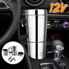 12V Stainless Steel Car Heating Cup Milk Water Tea Coffee Bottle Warmer Heated Travel Mug Traveling Camping Vehicle Heating Cup review