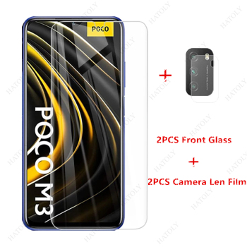 Glass for Xiaomi Poco M3 Tempered Glass for Xiaomi Poco M3 X3 NFC Redmi Note 9S 9 Pro 9A 9C Mi 10T Lite Film Screen Protector 2pcs frosted matte 9d tempered glass for xiaomi poco m3 x3 nfc f2pro redmi note 9 9s 9 pro anti fingerprint screen protector protective film