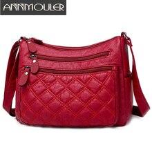 New Fashion Women Bag PU Leather Crossbody Bag Red Soft Shou