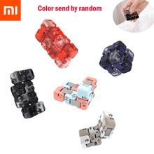 Novo xiaomi mijia mitu spinner colorido blocos de construção dedo fidget descompressão brinquedo puzzle montagem cubo dedo spinner brinquedo