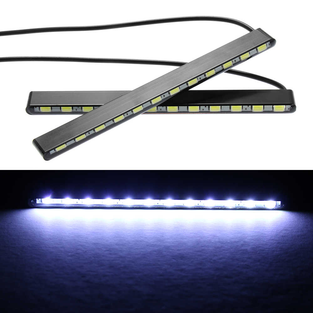 2 قطعة سيارة النهار تشغيل أضواء للماء النهار Led قطاع DRL مصابيح ضباب مصابيح منخفضة/اقتصادية الطاقة اكسسوارات سيارات