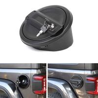 For Jeep Wrangler JL 2018+ Car Fuel Oil Tank Cover Cap with Lock Exterior Car Styling Mouldings