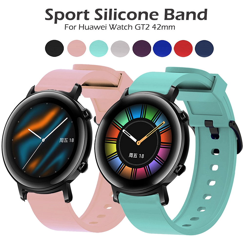 20mm Silicone Band Strap For Huawei Watch GT2 42mm Watchband For Samsung Active 2 40/44mm Wristband For Garmin Forerunner 245 M