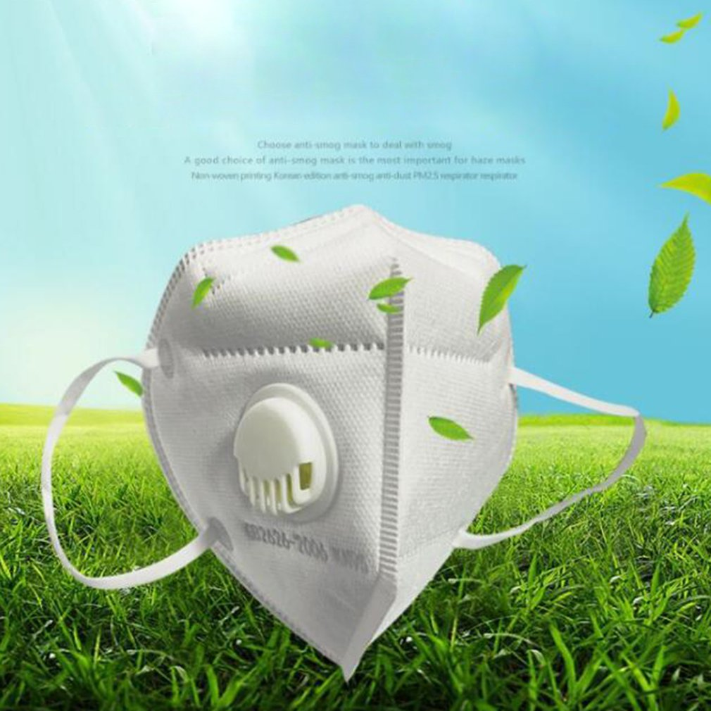New In Stock 1 Pcs 5-layer FFP2 FFP1 Civilian Mask With Valve Filter High Efficiency Filtration 3D Fitting Design Filter Masque