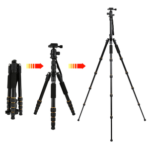 Image 1 - Zomei Q222/Q555/Q666/Q666Cプロのカメラの三脚旅行ポータブル調節可能な三脚キヤノンミラー/デジタルカメラ