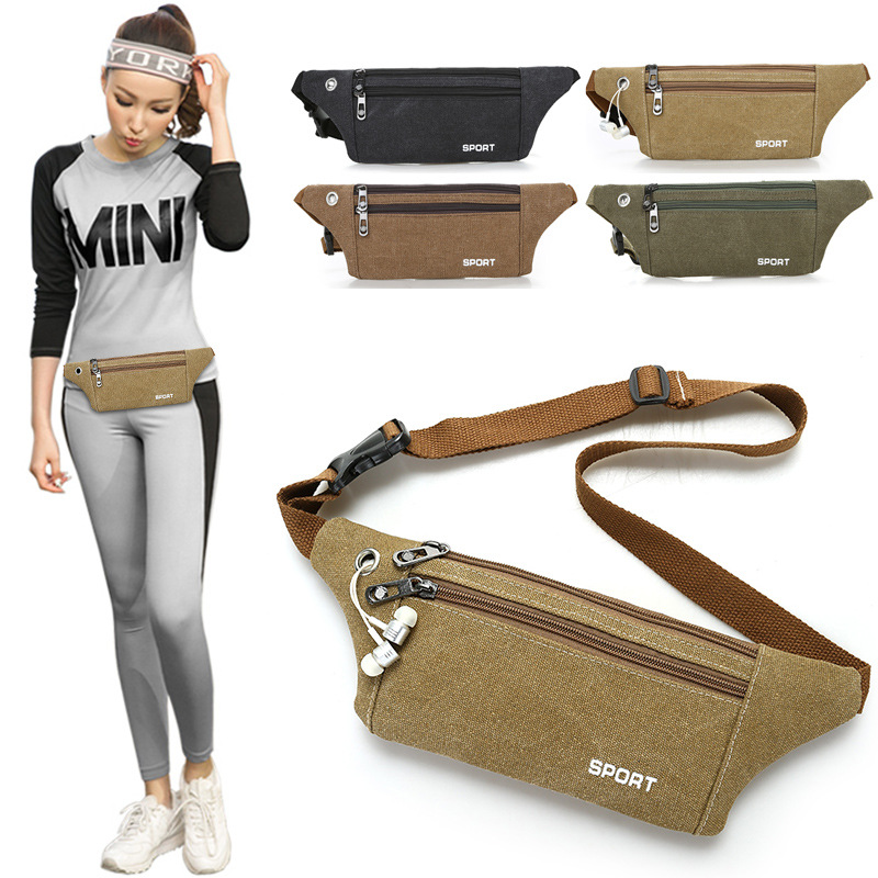 Processing New Style Outdoor Waist Pack Anti-Theft Canvas Body Hugging Change Key Hand