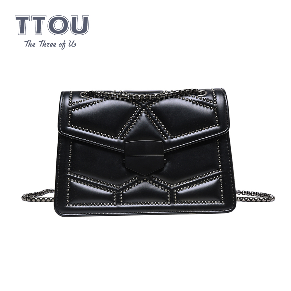 Vintage Famous Designer Female Shoulder Bags PU Leather Quality Brand Luxury Handbag With Chains For Women 2020 Messenger
