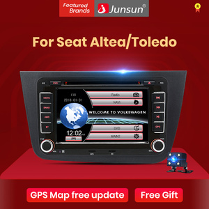 "Junsun 2 din car radio 7"" Car DVD Radio Multimedia Player For Seat Altea 2004-2015 Toledo 2004-2009 GPS Navigation car audio(China)"