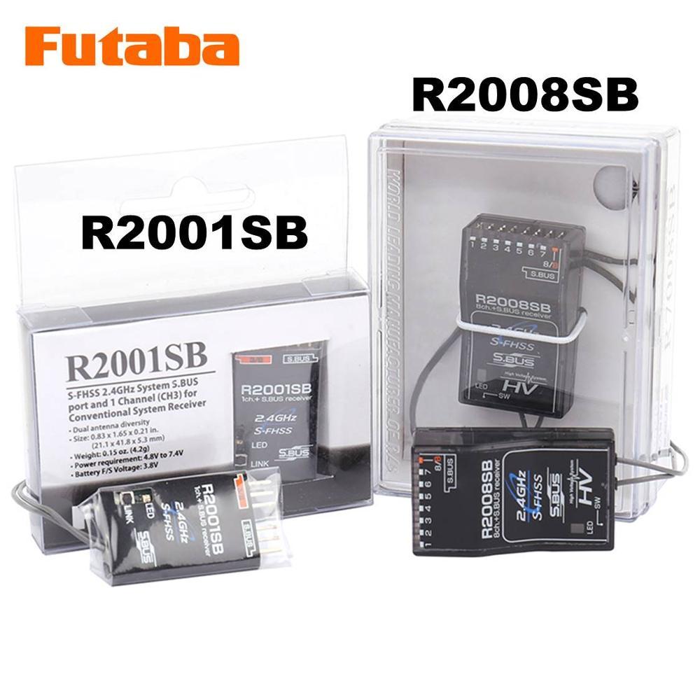 FUTABA R2001SB R2008SB 2.4G S-FHSS HV S.BUS Receiver Compatible T18MZ T8J T6J T6K T10J 14SG 16sz 18sz Remote Control FPV Drone