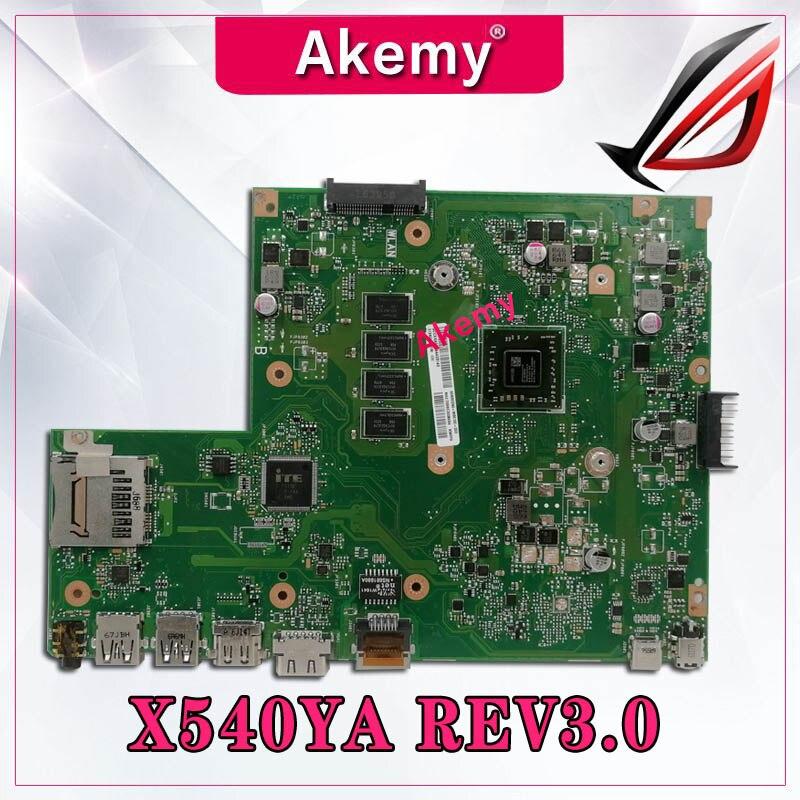 Original For ASUS X540YA Laptop Motherboard X540YA E1-7010 4GB MAIN BOARD REV 3.0 Tested Good Free Shipping