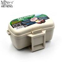 MNFT-caja de cebo de pesca de temperatura constante, contenedor de cebo vivo de cintura colgante, gusano rojo, cajas de almacenamiento, 1 Uds.