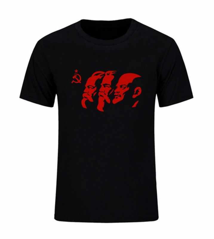 L'unione Sovietica Il Grande Comunista Lenin ,Marx, engels Manica Corta da Uomo T-Shirt URSS CCCP Il Comunismo Cotone Magliette E Camicette Magliette Estate