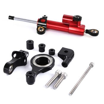 For YAMAHA YZF R1 R6 2006-2015 Motorcycle CNC Steering Damper Stabilizerlinear Reversed Safety Control with Bracket