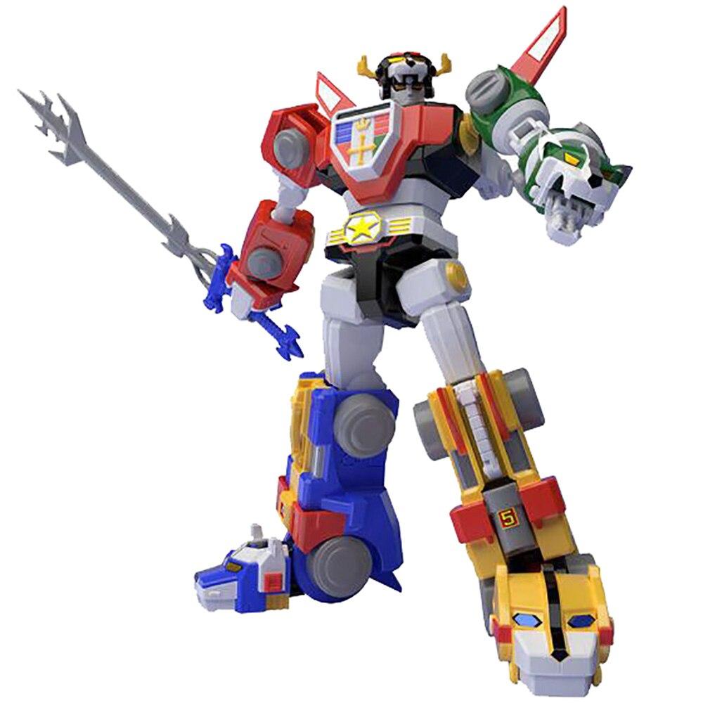 Bandai Original Gundam Model Super MiniPLA Beast King GoLion 5in1 18CM Action Figure Toy Voltron Anime Movie Model Figma