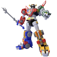 Bandai Original Gundam Model Super MiniPLA Beast King GoLion 5in1 18CM Action Figure Toy Voltron Anime Movie Model Figma