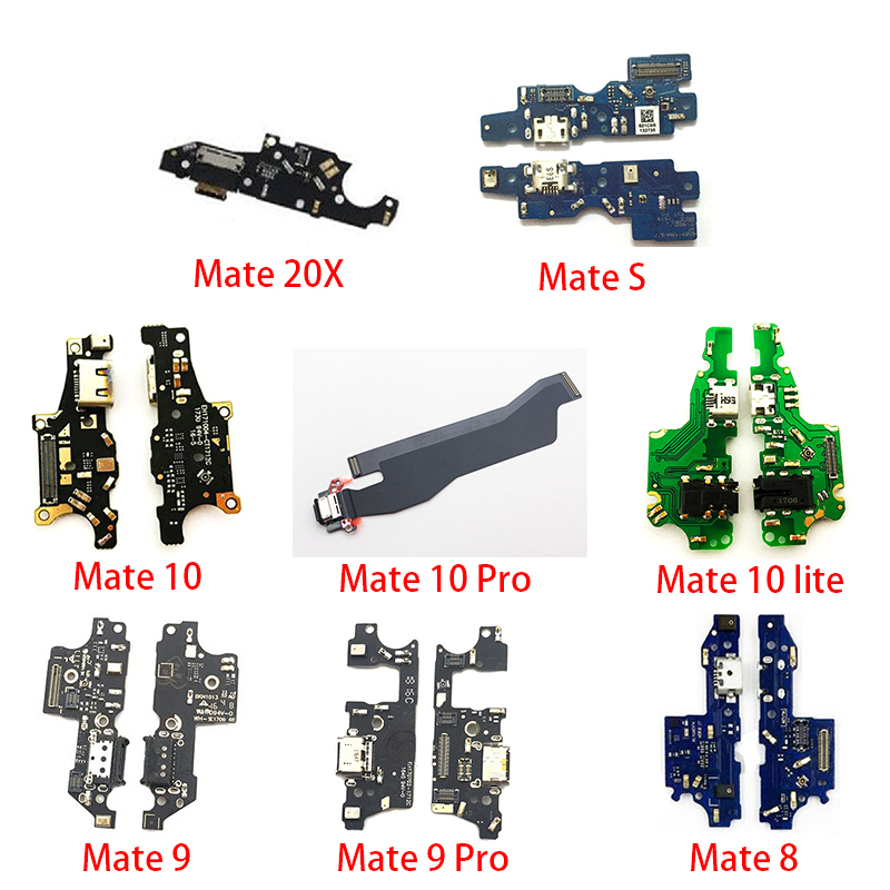 New USB Micro Charger Charging Port Dock Connector Microphone Board Flex Cable For Huawei Mate S 7 8 9 10 20 Pro 30 Lite 20X