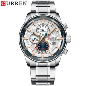 Image 5 - นาฬิกาCURRENใหม่แฟชั่นสแตนเลสสตีลยี่ห้อLuxury Multi Function Chronographนาฬิกาข้อมือควอตซ์Relogio Masculino