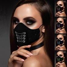 Masque facial unisexe, 1 pièce, nouvelle mode, imprimé 3D, gothique, Punk, Masque buccal, Masque coupe-vent