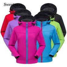 SWEETWOO Camping Hiking Jackets Men Women Outdoor Sports Fleece Coats Climbing Trekking Sports Softshell Waterproof Jacket