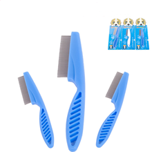 Pet dog brush Animal Care Comb Protect Flea for Cat Dog Hair Grooming Stainless Steel Comfort