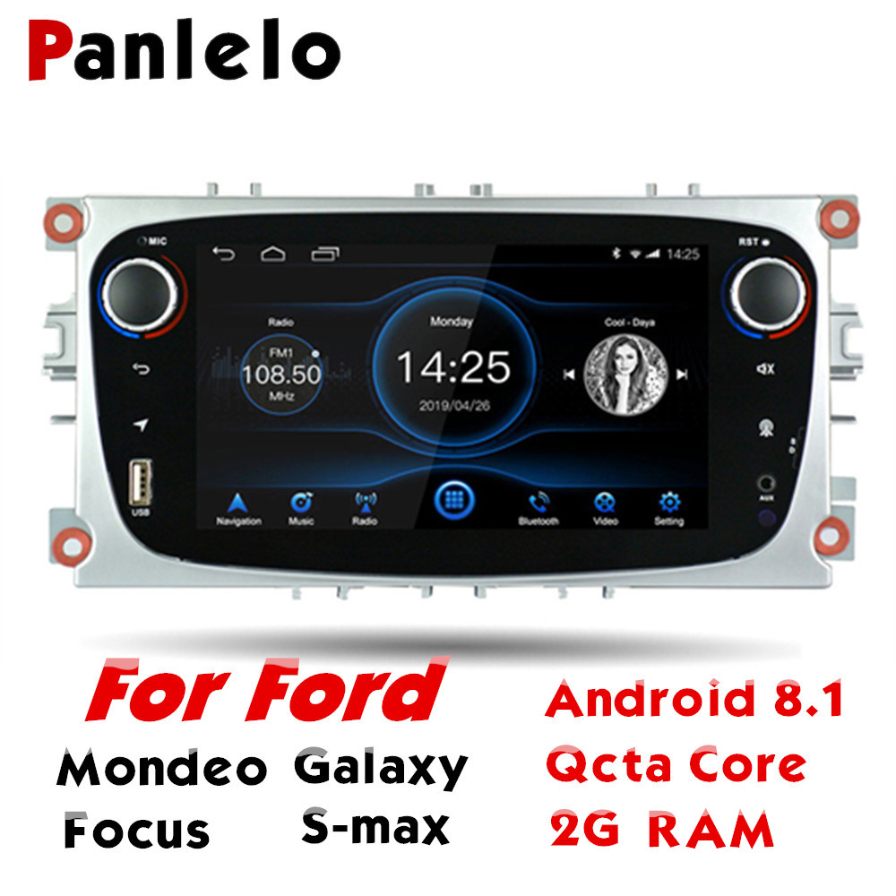 Panlelo For Ford Mondeo <font><b>Android</b></font> 8 <font><b>2G</b></font> <font><b>RAM</b></font> GPS Navigation Qcta Core <font><b>2</b></font> <font><b>Din</b></font> <font><b>Android</b></font> <font><b>Autoradio</b></font> IPS Screen For Ford Galaxy Focus S-max image