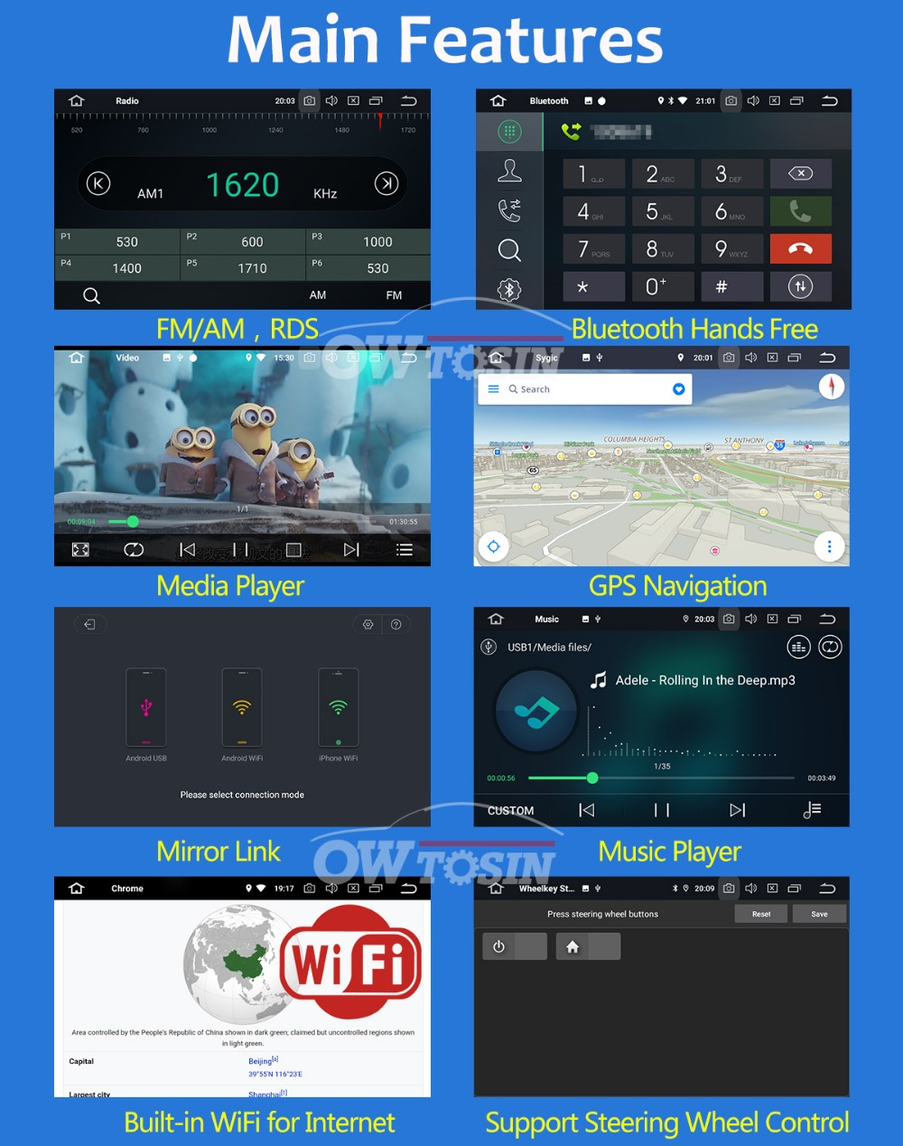 "Clearance 7"" PX6 4G+64G 2 Din Android 9.0 Car DVD Multimedia Player For KIA Ceed 2009 2010 2011 2012 Venga Radio GPS Navigation DSP CarPla 18"