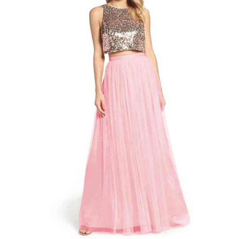 Panjang Tulle Bridesmaid Gaun Permen Warna Elegan Gaun Wanita untuk Pesta Pernikahan Junior Bridesmaid Dresses Plus Ukuran