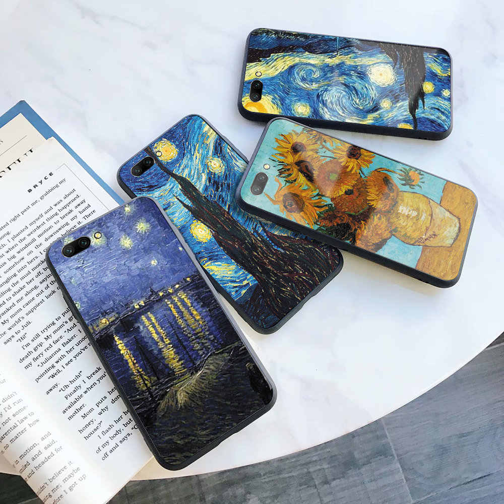 Van Gogh Starry Night phone cover case silicone TPU For Huawei Honor 8 9 10 20 i lite pro 20S 9X 8C 8X V9 V10 V20 note10 play
