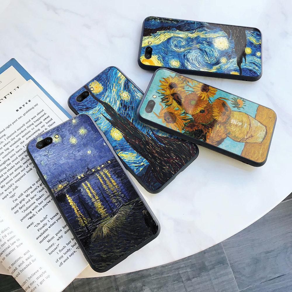 Van Gogh Starry Night phone cover <font><b>case</b></font> silicone TPU For Huawei <font><b>Honor</b></font> 8 9 <font><b>10</b></font> 20 i <font><b>lite</b></font> pro 20S 9X 8C 8X V9 V10 V20 note10 play image