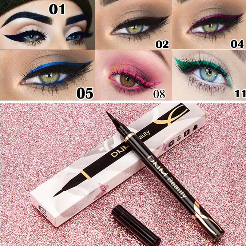 1PCs Matte Eyeliner Waterproof Colorful Liquid Eye Liner Pen Fast Dry Long Lasting Thin Head Party Beauty Makeup Cosmetic Tools