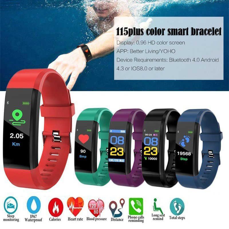 متعددة الوظائف للماء سوار ذكي ووتش الدم مراقبة ضغط القلب معدل رصد الذكية معصمه حزام لياقة!