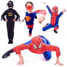 Новинка года; одежда для сцены на Хэллоуин; детская одежда; костюм Человека-паука, Бэтмена, суперманхеллоуина; детское праздничное платье